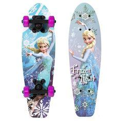 """Disney's Frozen Elsa """"Frozen Heart"""" 21-in. Wood Skateboard - Girls, Blue"""