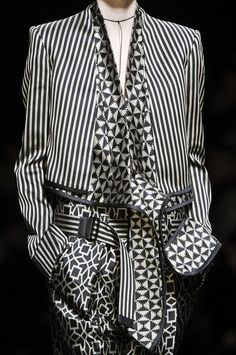 haider ackermann spring 2013. | #haiderackermann | #menswear | #monochromatic | #geometric | #striped | #patterned | #layering.
