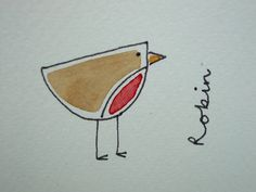 Hand Illustrated Robin Christmas Cards