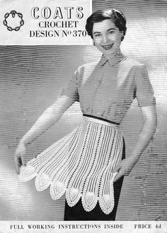 Crocheted apron - I actually have one of these.