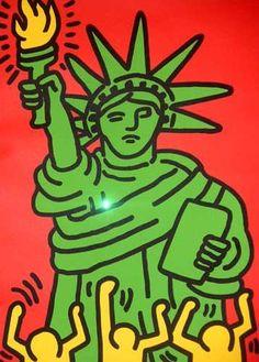 Keith Haring Statue de la Liberté
