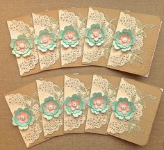 Petite Fleur Paperie: Mini Cards, Gift Card and a Tag !