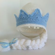 Frozen's Elsa Inspired Hat with Braid Elsa's Crown by InChains, $25.00