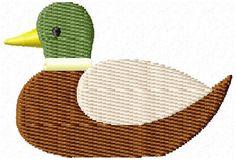 Mallard Duck Mini Machine Embroidery Design