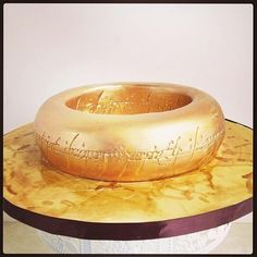The One Ring - Lord of the Rings | 27 Delectable Geeky Cakes Almost Too Pretty To Eat