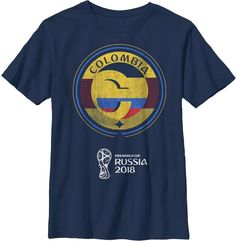 cb236301b33 Fifth Sun Youth FIFA 2018 World Cup Russia Colombia Contrast Round Navy T- Shirt