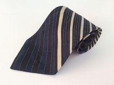 Palatina Neck Tie Blue Beige Black Grey Geometric 100% Italian Silk #Palatina #NeckTie