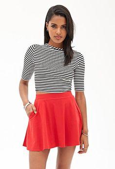 Pocket Skater Skirt | FOREVER21 - 2000121109