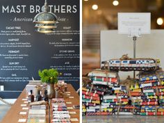 Mast Brothers Chocolate, Williamsburg, Brooklyn. The store smells divine and they offer samples of the chocolate.