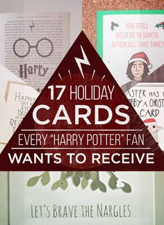 """17 Holiday Cards Every """"Harry Potter"""" Fan Needs -if someone gave me one of these cards, it would make my day."""