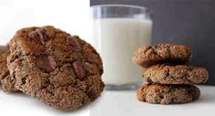 CHOCOLATE CHIP PROTEIN COOKIES 1 large egg,1/2 c. of chocolate protein powder,1/2 c. of coconut flour, 1/2 Tsp. of baking soda,1/4 c. of oats ,1/4 c. of skim milk,Handful of macadamia nuts, 1/8 c. of sugar free dark chocolate chips DIRECTIONS  Preheat oven to 340 F, Mix in a bowl Egg, protein powder,coconut flour,baking soda, oats, milk, and nuts.Once dough is formed stir in the chocolate chips.Divide the dough into 12 cookie balls & place cookies on a sprayed cookie sheet.Bake for 15-20…