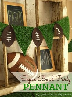 Super Bowl Party Decor And Free Football Subway Art Chase F Atilde Ordm Tbol Football Party Decorations, Football Crafts, Free Football, Football Themes, Football Decor, Homecoming Decorations, Football Centerpieces, Banquet Decorations, Sports Decor