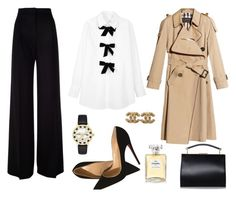 """""""Classic business outfit"""" by stacyco ❤ liked on Polyvore featuring See by Chloé, MaxMara, Christian Louboutin, Kate Spade, Burberry, Handle and Chanel"""