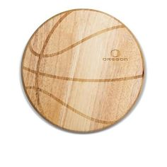 University of Oregon Ducks Basketball Wine & Cheese Cutting Board