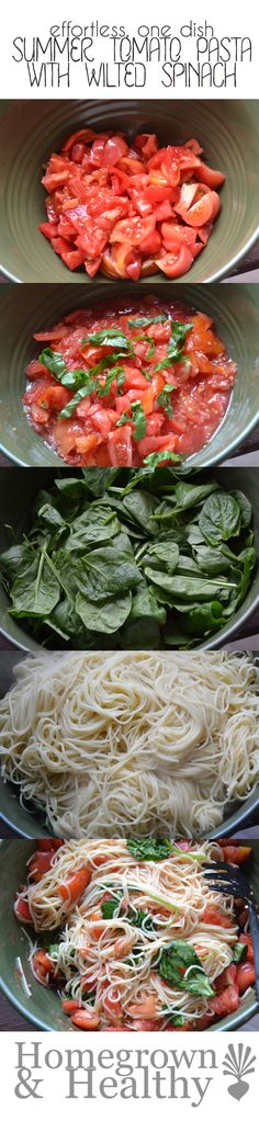 This effortless summer pasta uses fresh food. Layer the veggies, top with hot pasta and you're done! No sauce cooking required. #YahooFood #CleverGirls