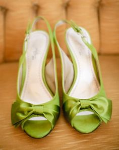 these might be cute to go with the bridesmaid dresses -Kena-  WeddingChannel Galleries: Green Wedding Shoes