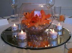 Orange Lily Centrepiece