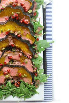 Maple Roasted Acorn Squash Salad with Pomegranate Vinaigrette | The Healthy Maven