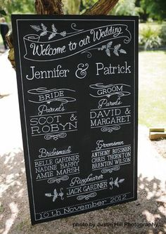 Welcome To Our Wedding Chalkboard: