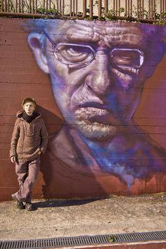 Street Art by Caktus and Maria - In San Severo, Italy - Street Art Utopia Best Street Art, Amazing Street Art, 3d Street Art, Street Artists, Amazing Art, Graffiti Artists, Awesome, Murals Street Art, Street Art Graffiti