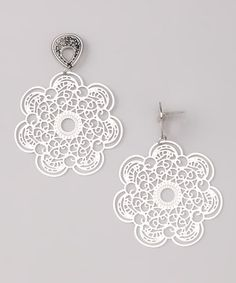 Look at this #zulilyfind! Silver Cutout Flower Drop Earrings by Sevil 925 #zulilyfinds