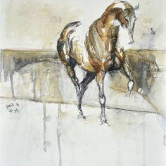 """Saatchi Art Artist Benedicte Gele; Painting, """"Equine Nude 25t"""" #art"""