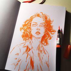 """9,541 Likes, 34 Comments - unique (@uniquelab) on Instagram: """"Sketchbook. #pentel brushpen on #leuchtturm1917 note. #drawing #sketch #illustration #sketchbook…"""""""