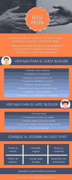 Infografía sobre el artículo: ¿Qué es y por que debes hacer guest posting en tu blog?