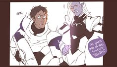 """istehlurvz: """" Lance immediately vows to never hit on Allura ever again. This is my own design of Lotor I have absolutely no idea what he'll look like in the next season for all I know he'll have 5...(Photo set)"""