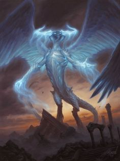 Ugin The Spirit Dragon Original Oil Painting Art by Chris Rahn MTG Magic | eBay