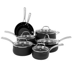 Oneida 12pc Hard Anodized Aluminum Cookware Set >>> To view further for this item, visit the image link.