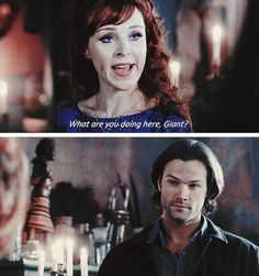 Sam's sassy face. #Sam #Rowena #Supernatural 11x22