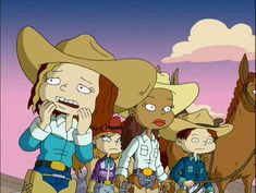 Rugrats All Grown Up, Little Cowgirl, Growing Up, Family Guy, Cartoon, Guys, Fictional Characters, Cartoons, Fantasy Characters