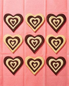 Sure flowers are nice, but we bet you'll agree that homemade food gifts are the sweetest tokens of affection — especially when they're heart-shaped, like these black-and-white shortbread cookies.