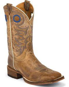 Justin Men's Bent Rail Cowboy Boots Beige Cheivo [BR744]