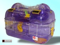 purple hamster cage | ... Dome Space Probe Dwarf Hamster Mouse Cage - Purple-Free UK Shipping
