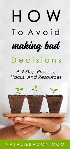 How to make better decisions and avoid bad ones with a step by step decision making process, hacks to becoming more decisive, and the best resources. Self Development, Personal Development, Highly Sensitive Person, Self Improvement Tips, How To Become, How To Make, Decision Making, Cool Things To Make, Making Ideas