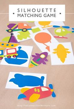 silhouette matching game - free printable busy bag activity for preschoolers, plus you can play 3 different ways