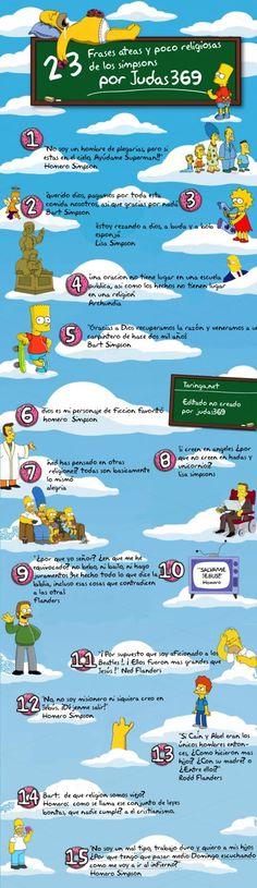 Ateismo para Cristianos.: Frases Ateas y Antirreligiosas en los Simpsons (Humor Gráfico)