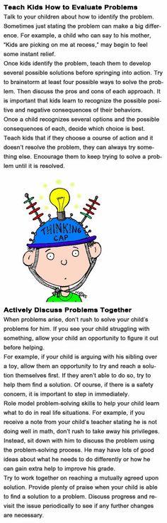Problem solving skills for kids http://firstchildhoodeducation.blogspot.com/2013/11/problem-solving-skills-for-kids.html
