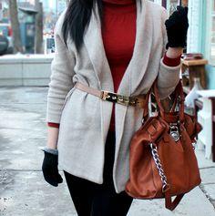 Brick Red & Cozy Wool // The Avenue Vee