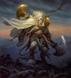 MtG Art: Planeswalkers of Magic the Gathering Fantasy Races, Fantasy Warrior, Fantasy Art, Magic The Gathering, Chris Rahn, Dungeons And Dragons, Fantasy Creatures, Mythical Creatures, Art Magique