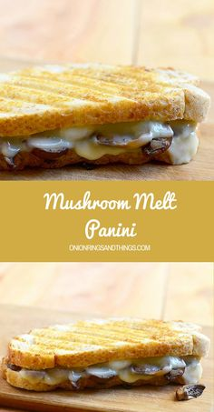 Crisp on the outside and gooey on the inside, this mushroom melt panini has got to be the easiest and tastiest sandwich you can make. Pair it with your favorite mushroom soup and you have comfort food at its best