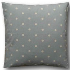 """Cushion Cover Handmade With Clarke & Clarke Dotty Blue 16"""" Scatter Throw Pillow"""