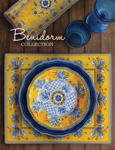 Le Cadeaux Benidorm Large Melamine Serving Bowl - The Canopy  sc 1 st  Pinterest & Le Cadeaux Rooster Blue Dinnerware | Cool stuff | Pinterest ...