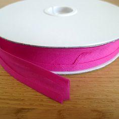 100% cotton   Bias Tape Dark Pink 25mm