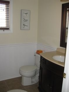 Chair Rail Ideas For Bathroom chair rail in the bathroom with wide baseboard in matching color light paint beneath rail Image Result For Chair Rail In Bathroom Pictures