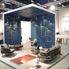 &tradition and Ontwerpduo stand at Stockholm furniture fair featuring Light Forest * Interiors * The Inner Interiorista