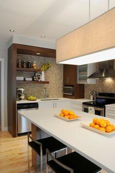 Suzie: Corea Sotropa Interior Design - Contemporary kitchen design with coffee stained kitchen ...