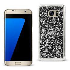 Reiko Samsung Galaxy S7 Edge Diamond Protector Cover Black With Beauty Glitter Rhinestone